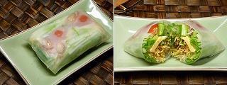 パリ麺サラダで作る水菜と彩り野菜の生春巻き6.JPG